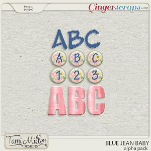 Blue Jean Baby Alpha Pack by Tami Miller Designs