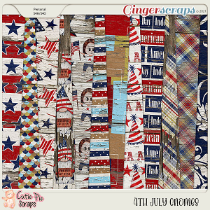 4Th July Gnomes Wood Papers
