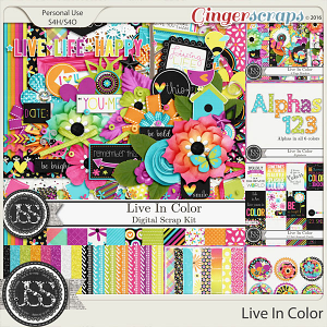 Live In Color Digital Scrapbooking Bundle