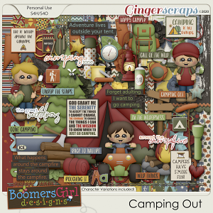 Camping Out by BoomersGirl Designs