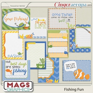 Fishing Fun JOURNAL CARDS by MagsGraphics