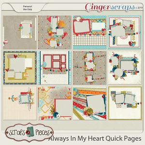 Always In My Heart Quick Pages by Scraps N Pieces