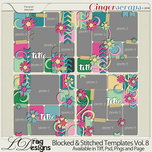 Blocked & Stitched Templates Vol.8 by LDrag Designs