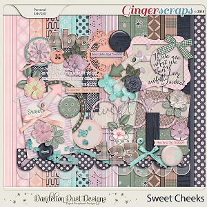 Sweet Cheeks Digital Scrapbook Kit By Dandelion Dust Designs