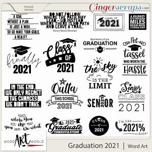 Graduation 2021 Word Art