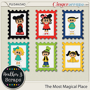The Most Magical Place STAMPS by Heather Z Scraps
