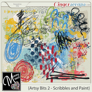 Artsy Bits 2 - Scribbles and Paint