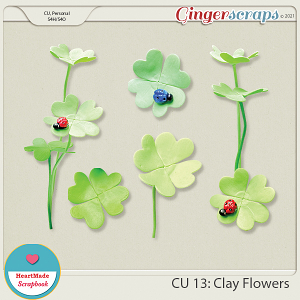 CU 13 - Clay flowers