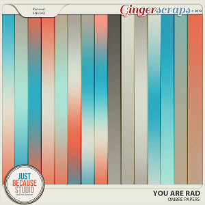 You Are Rad Ombré Papers by JB Studio