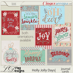 Holly Jolly Days: Journal Cards by LDragDesigns