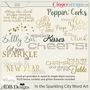 In The Sparkling City Word Art by ADB Designs