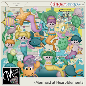 Mermaid At Heart - Elements by Memory Mosaic