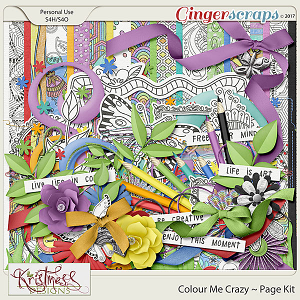 Colour Me Crazy Page Kit