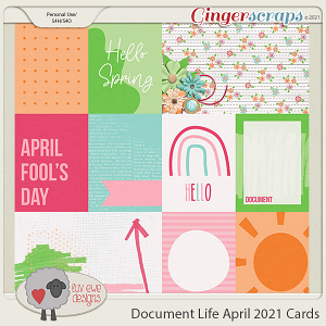 Document Life April 2021 Cards by Luv Ewe Designs
