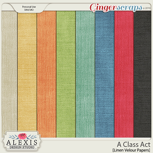 A Class Act - Linen Velour Papers