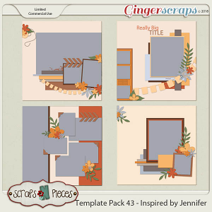 Template Pack 43 - Inspired by Jennifer by Scraps N Pieces