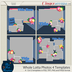 Whole Lotta Photos 4 Templates by Miss Fish