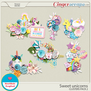 Sweet unicorns - clusters pack 2