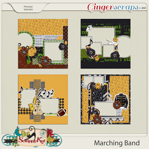 Marching Band Quick Pages by The Scrappy Kat