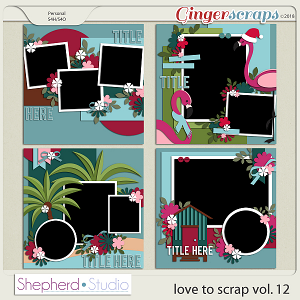 Love to Scrap Volume 12 Templates by Shepherd Studio