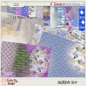 Birthday Boy Messy Papers