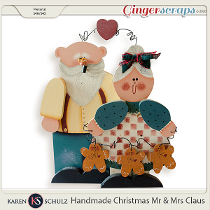 Handmade Christmas Mr and Mrs Claus by Karen Schulz