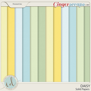 Daisy Solid Papers by Ilonka's Designs