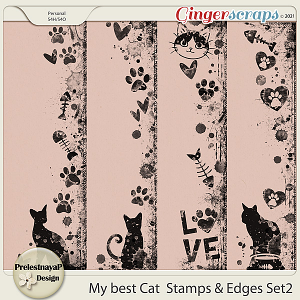 My best Cat Stamps & Edges Set2