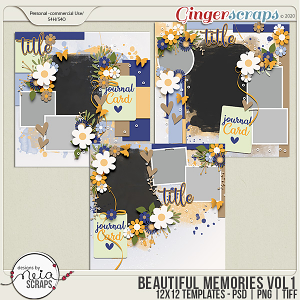 Beautiful Memories - VOL.1 - Templates - by Neia Scraps