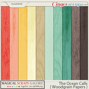 The Ocean Calls (woodgrain papers)
