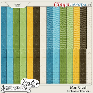 Man Crush - Embossed Papers
