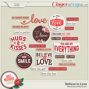 Believe In Love Wordbits by JB Studio