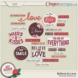 Believe In Love Wordbits by JB Studio