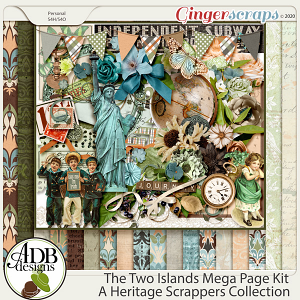 The Two Islands Page Kit by ADB Designs