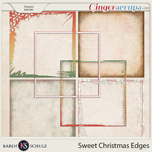 Sweet Christmas Edgers by Snickerdoodle Designs and Linda Cumberland Designs
