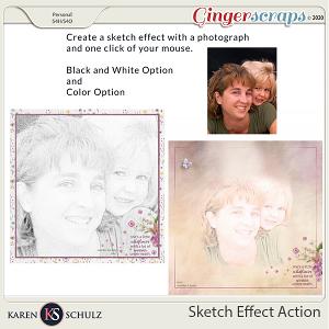 Sketch Effect Action by Karen Schulz