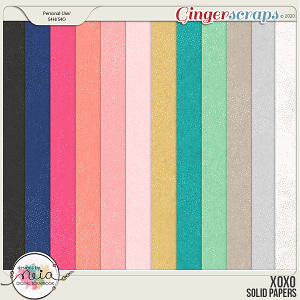 XOXO - Solid Papers - by Neia Scraps