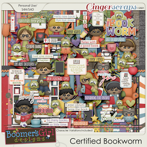Certified Bookworm by BoomersGirl Designs
