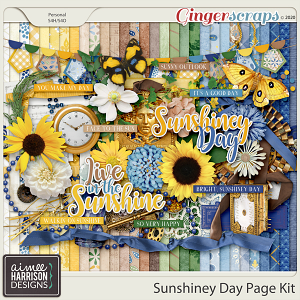 Sunshiney Day Page Kit by Aimee Harrison