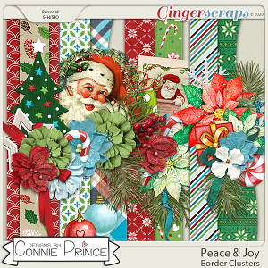 Peace & Joy - Border Clusters by Connie Prince