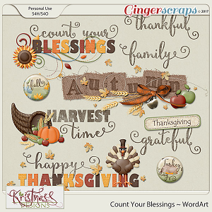 Count Your Blessings WordArt Clusters