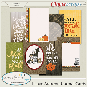 I Love Autumn Journal Cards