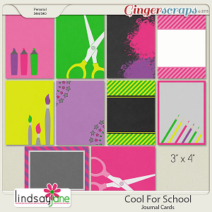 Cool For School Journal Cards by Lindsay Jane