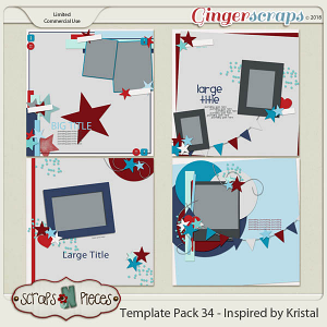 Template Pack 34 - Inspired by Kristal - by Scraps N Pieces