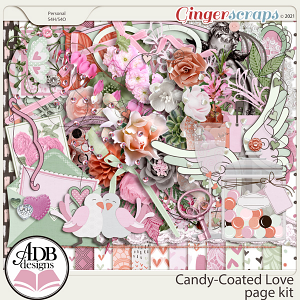 Candy-Coated Love Page Kit by ADB Designs