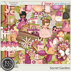 Secret Garden Digital Scrapbook Kit
