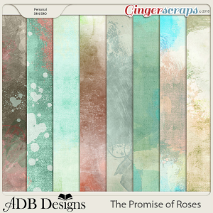 The Promise of Roses Painted Papers