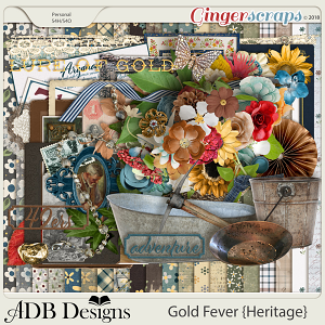 Gold Fever Heritage Page Kit