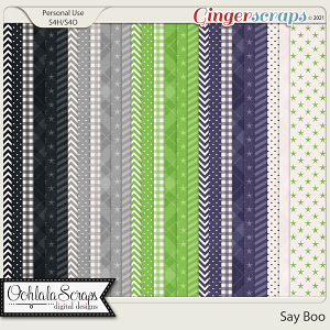 Say Boo Pattern Papers