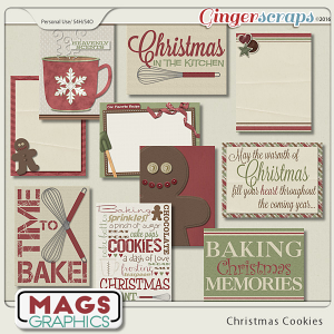 Christmas Cookies JOURNAL CARDS by MagsGraphics